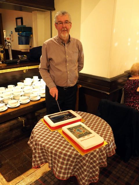 Association President, John Johnstone, ready to cut the 110th Anniversary Cakes!