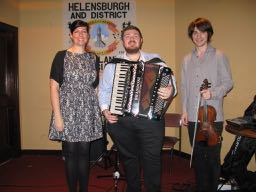 Emma Deans and Ryan Young with Accordionist Wullie Scott